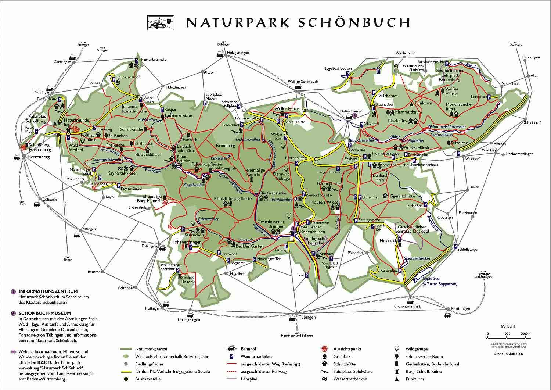 Karte Naturpark Schönbuch